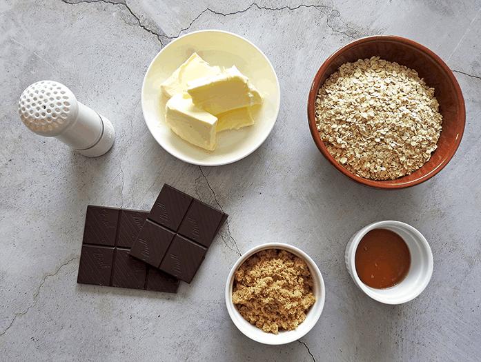 Dark Chocolate Flapjacks Ingredients
