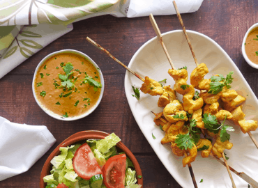 Healthy Chicken Satay Skewers