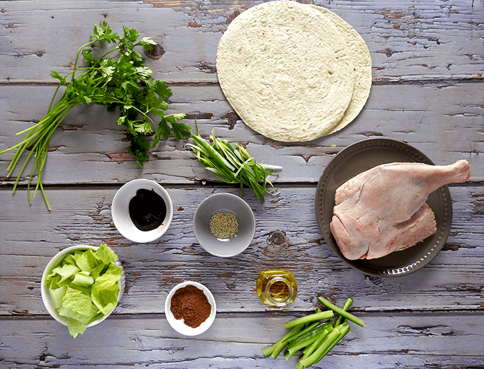 Hoisin Duck Wraps Ingredients