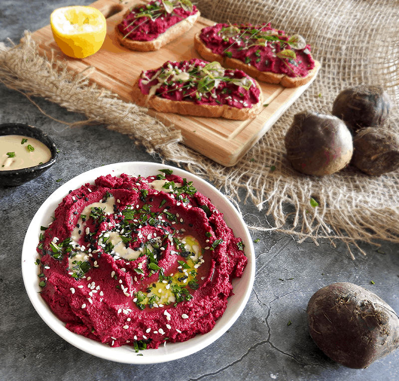 Hummus with Beetroot