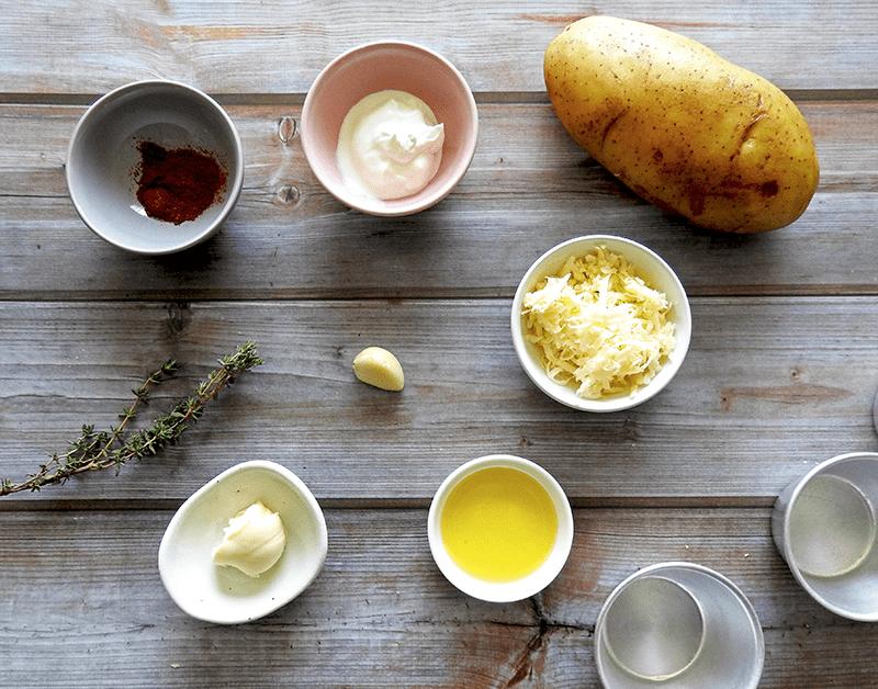 Individual Dauphinoise Potatoes Ingredients