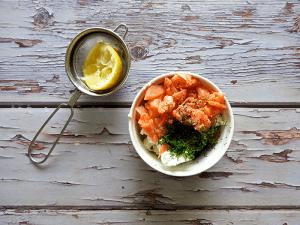 Salmon & Feta Parcels Step 1