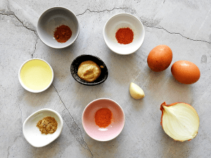 Simple Egg Curry Ingredients
