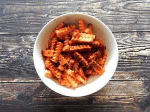 Sweet Potato Dirty Fries Step 2