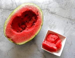 Watermelon Granita No Sugar Step 1