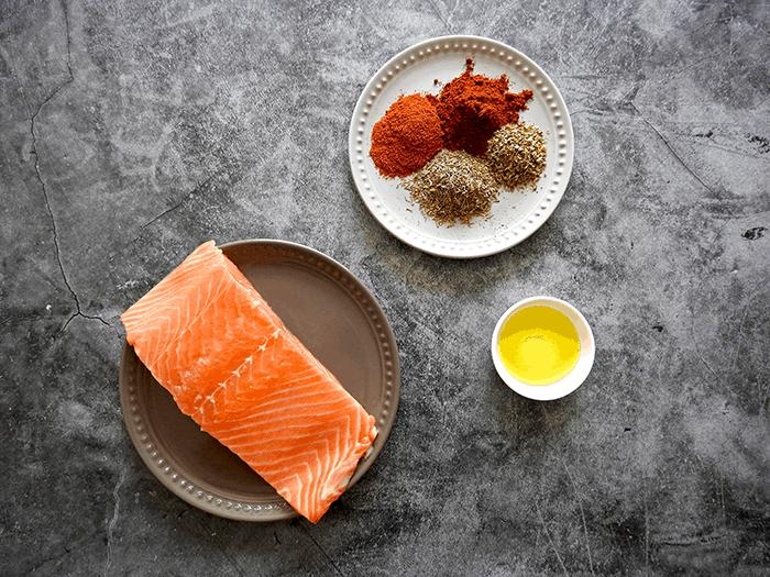 Baked Cajun Salmon Ingredients