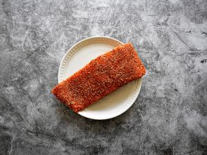 Baked Cajun Salmon Recipe Step 1 - oil and season the salmon