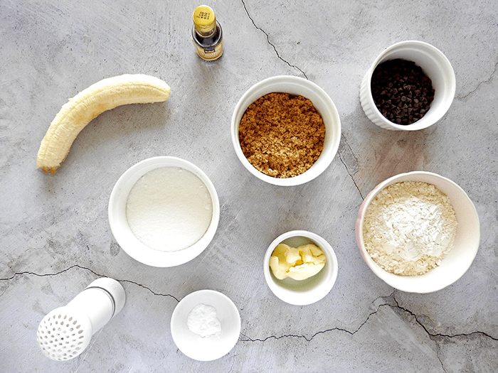 Banana Chocolate Chip Cookies Ingredients