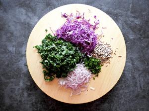 Healthy Kale Coleslaw Step 1