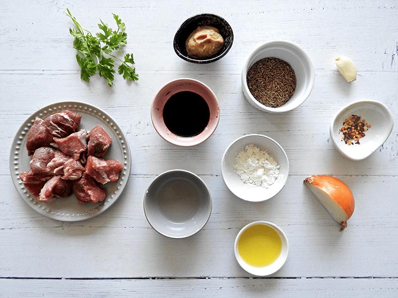 Chinese Cumin Lamb Ingredients
