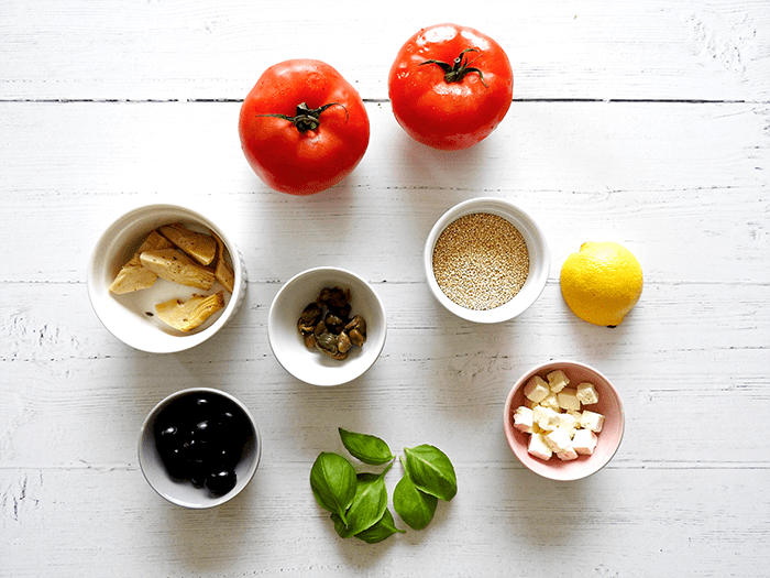 Greek Stuffed Tomatoes Ingredients