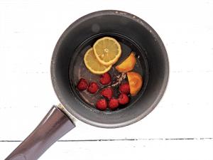 Step 1 - simmer ingredients in pan