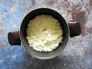 Step 8 - Add the rice
