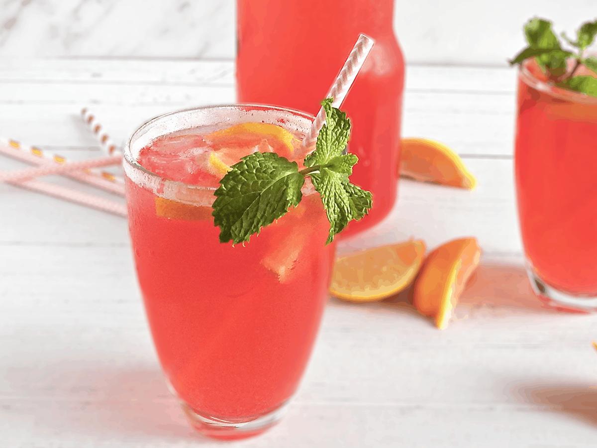 Pink Lemonade In Glasses