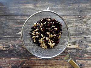 Simple Three Bean Salad Step 1 Rinse Beans