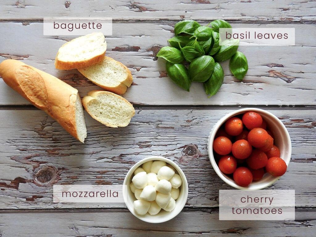 Caprese Bruschetta Ingredients