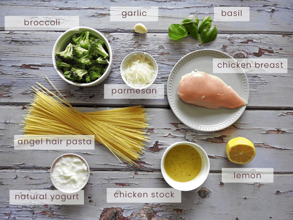 Lemon Chicken Angel Hair Pasta Ingredients