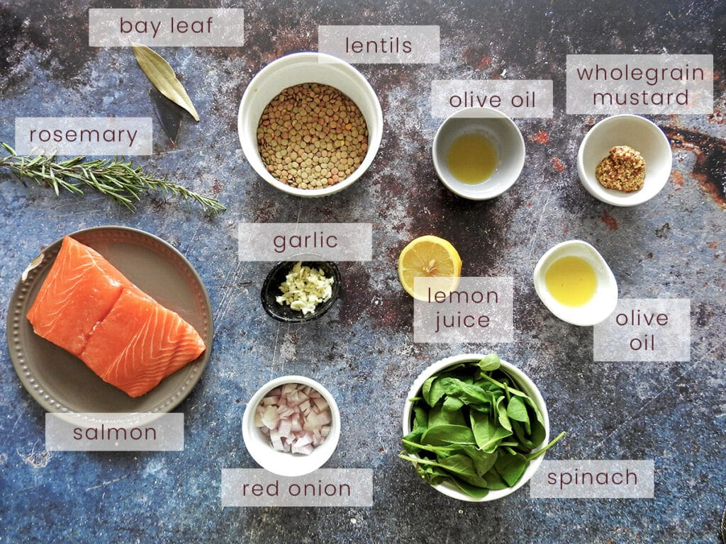 pan seared salmon with lentils ingredients