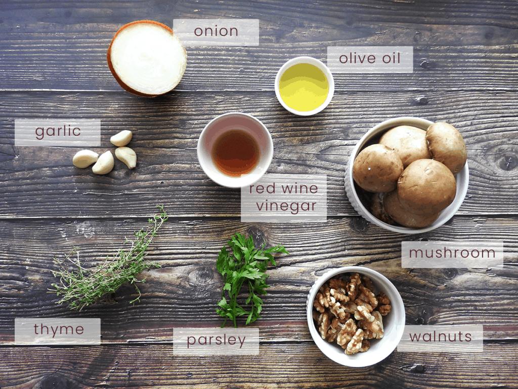 Mushroom Pate Ingredients
