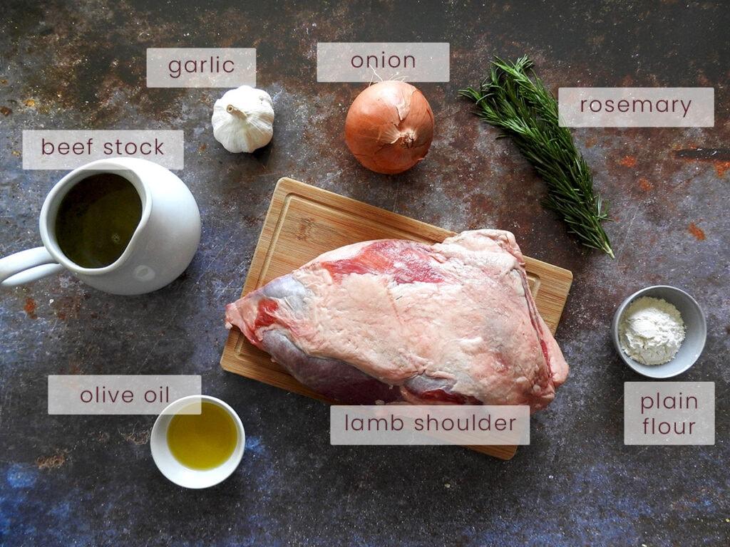 Slow Roast Lamb Shoulder Ingredients