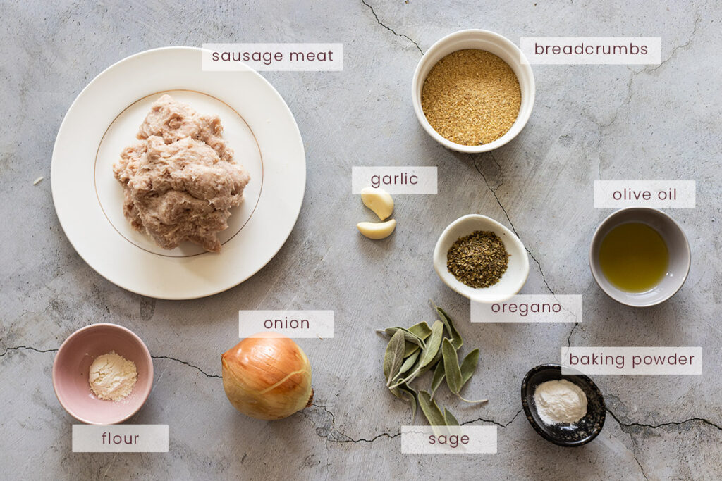 Sage and onion stuffing ingredients