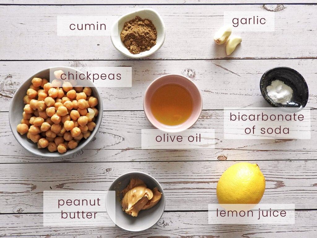 Hummus ingredients without tahini