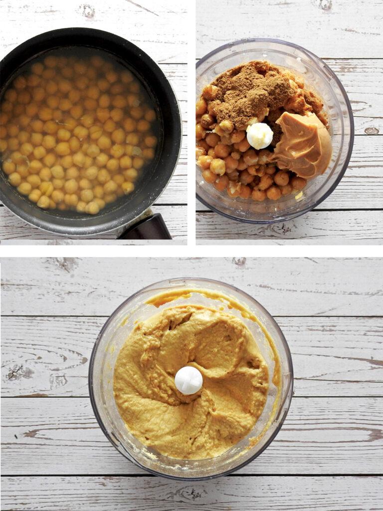 Hummus recipe steps