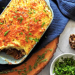 Keto cottage pie from above