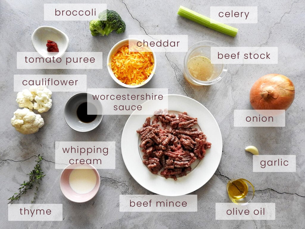 Keto cottage pie ingredients