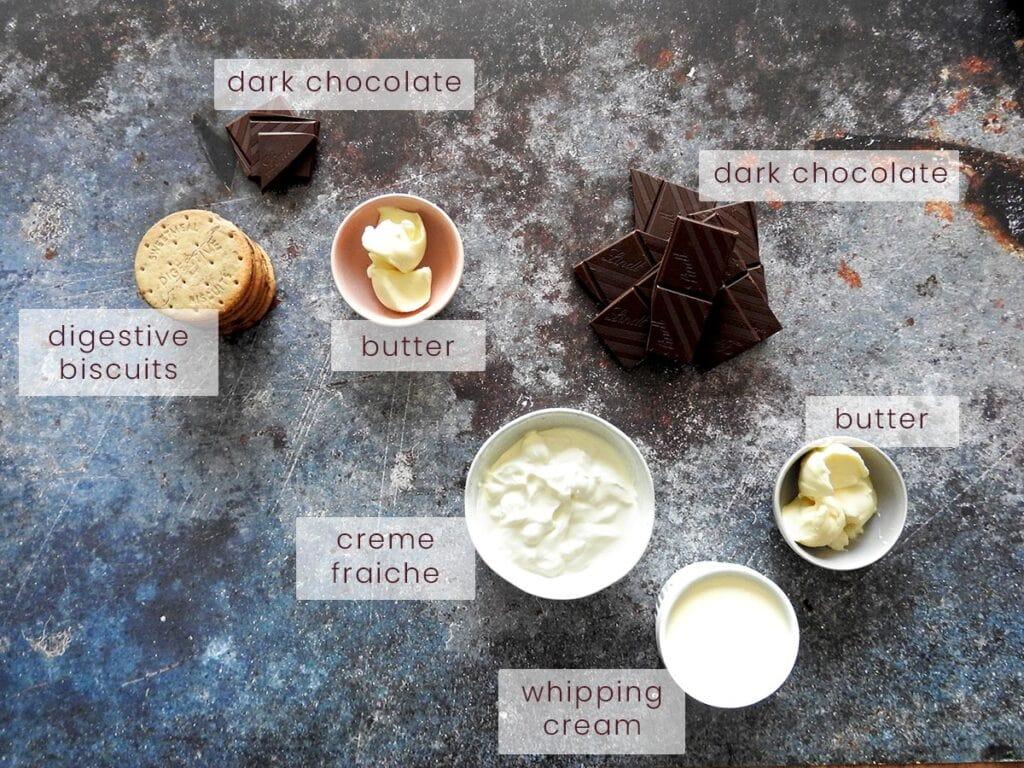 Mini Chocolate Tart Ingredients