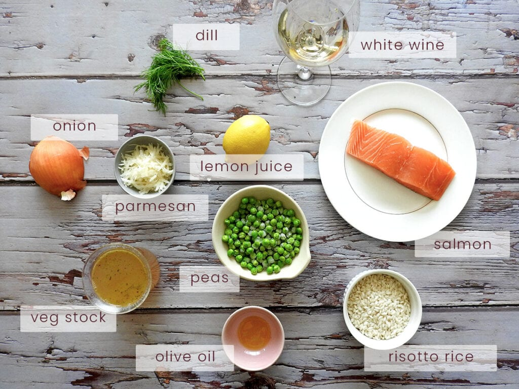 Salmon Risotto Ingredients
