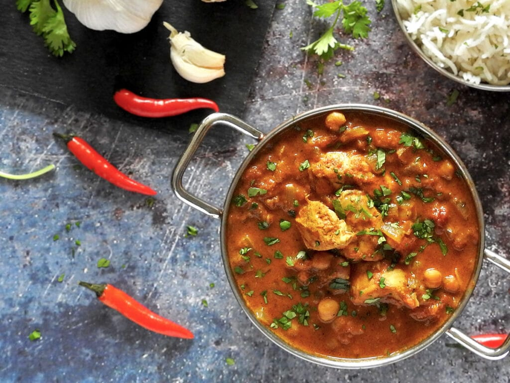 Slow Cooker Chicken Curry in a Bowl