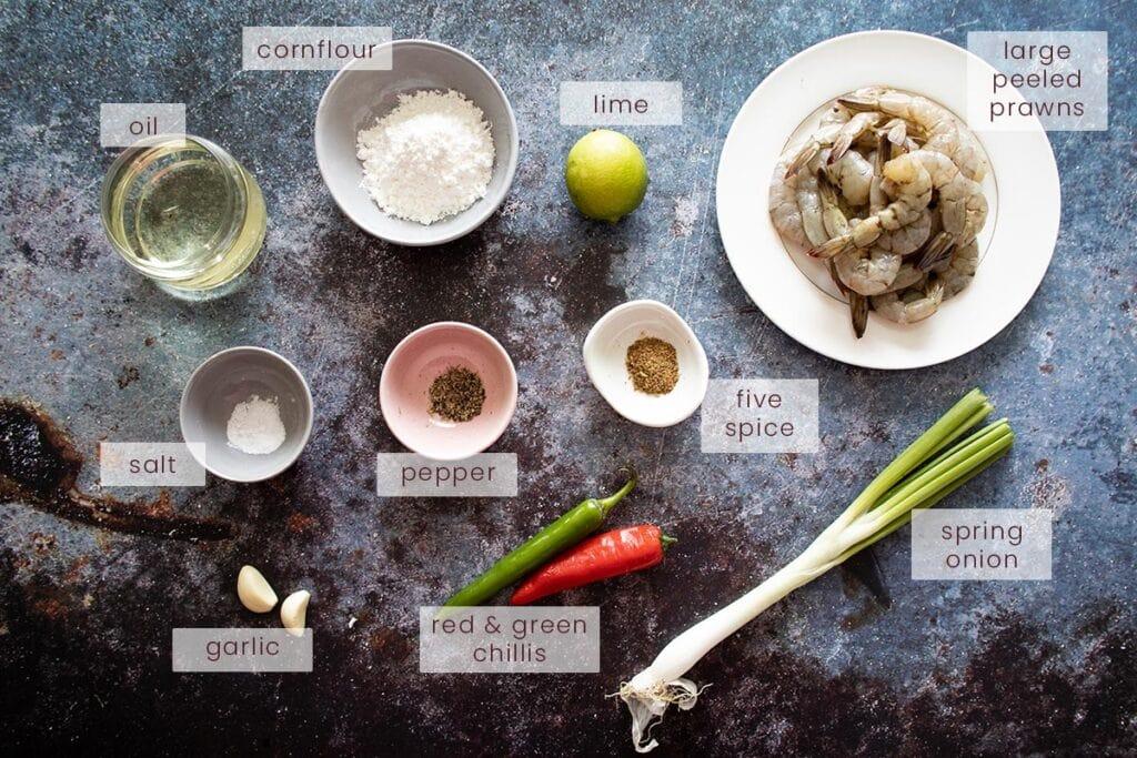 Salt and Pepper Prawns Ingredients