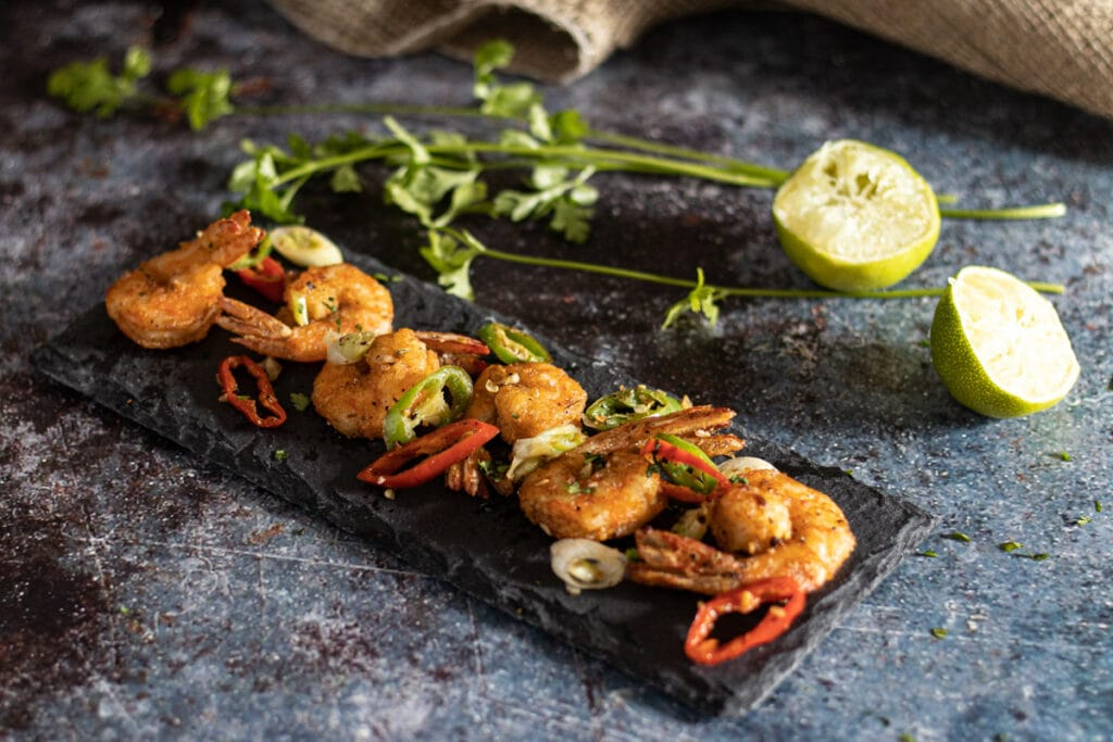 Prawns with Salt and Pepper