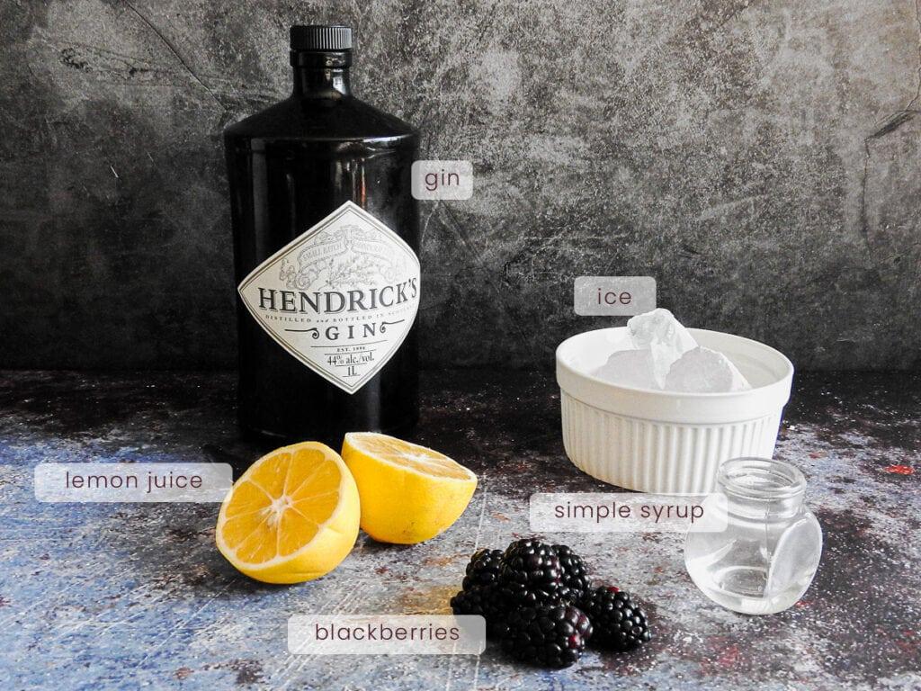 Bramble cocktail ingredients