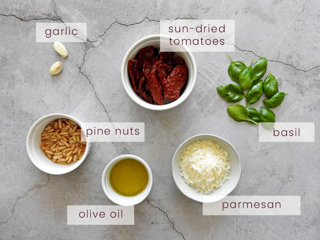 Red pesto ingredients