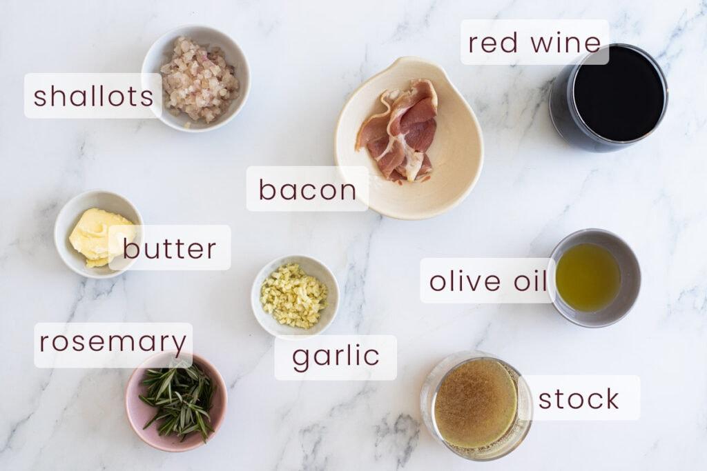 Red wine jus ingredients