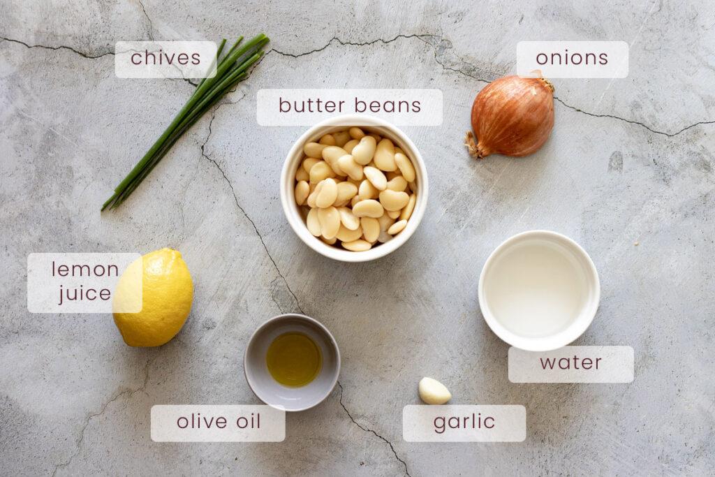 Butter Bean Mash Ingredients