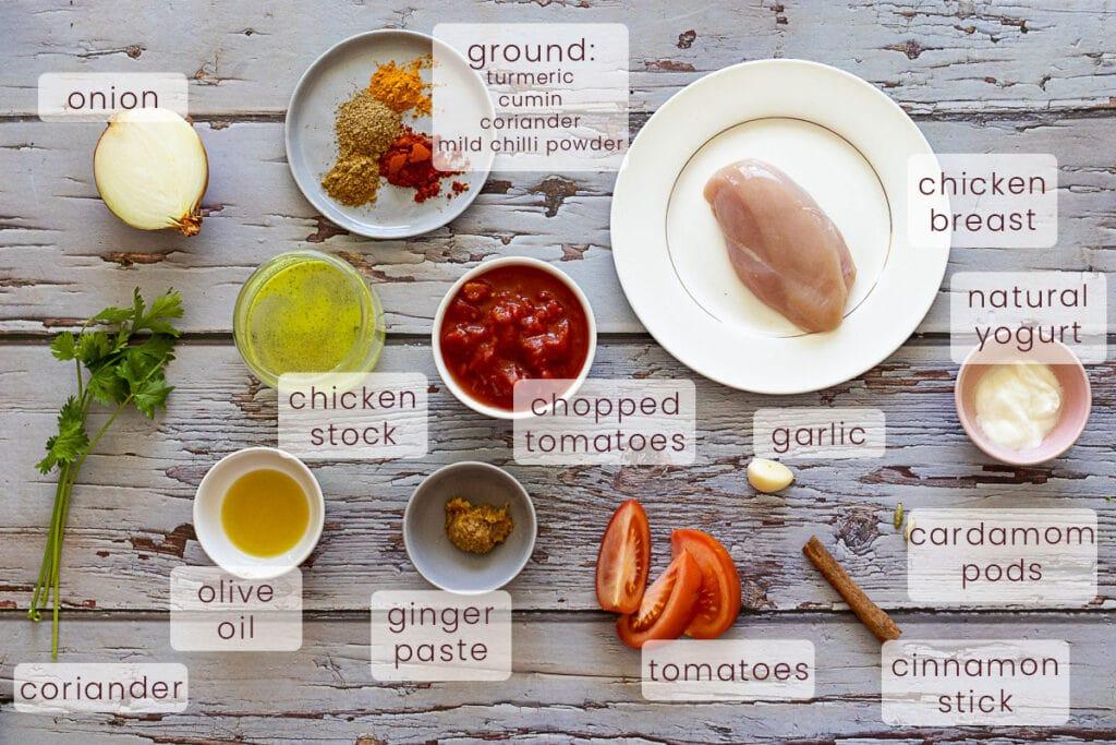 Chicken Rogan Josh Ingredients
