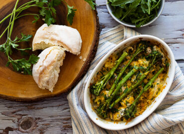 Chicken and Broccoli Bake in a dish