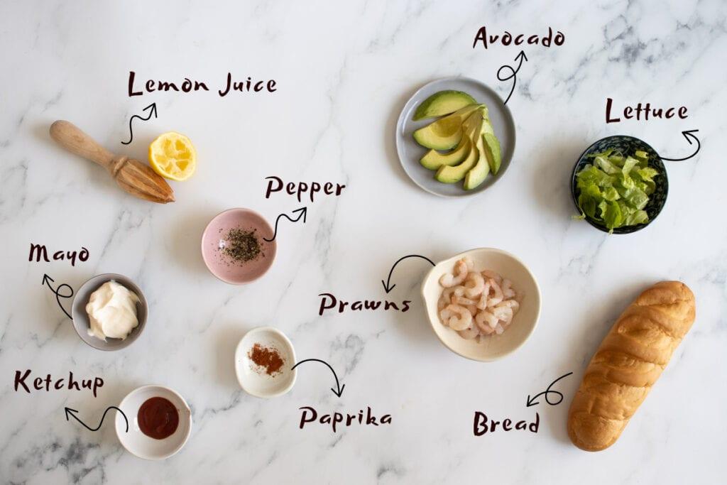 Prawn Sandwich Ingredients