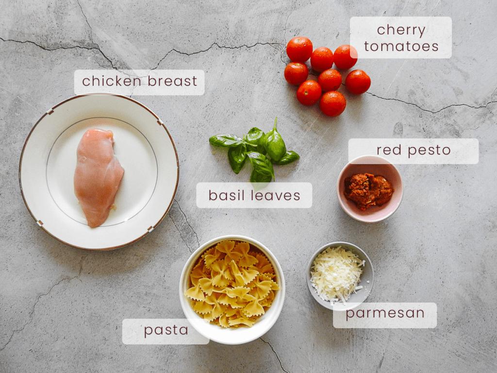 Red Pesto Pasta Ingredients