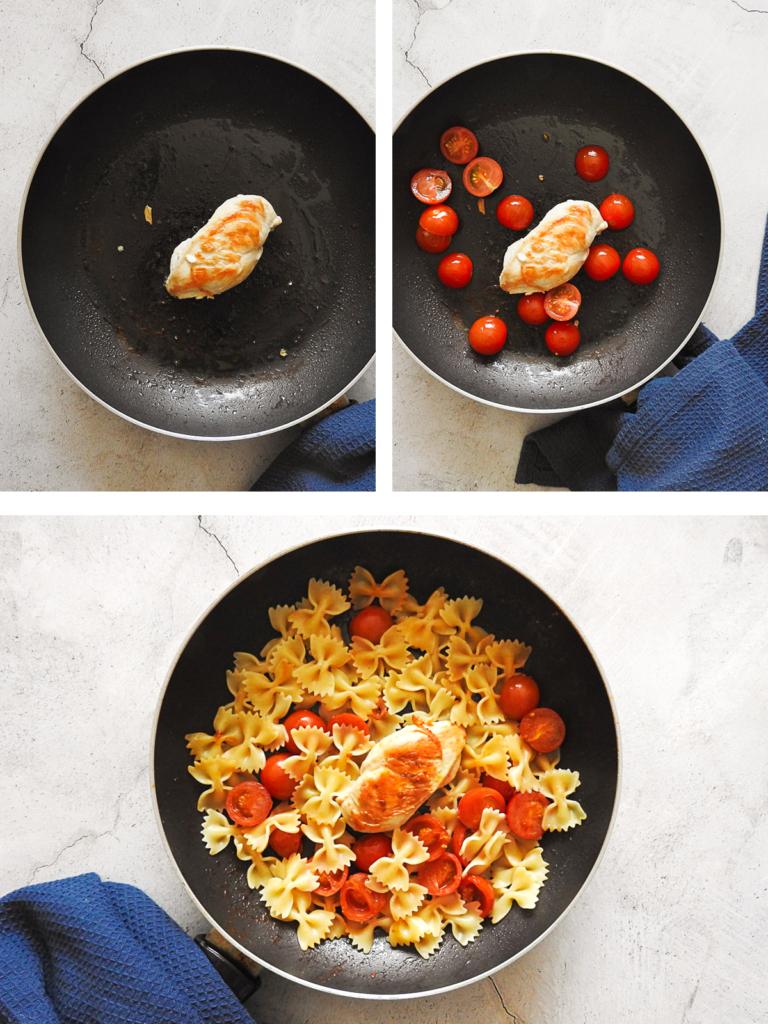 Red Pesto pasta recipe steps
