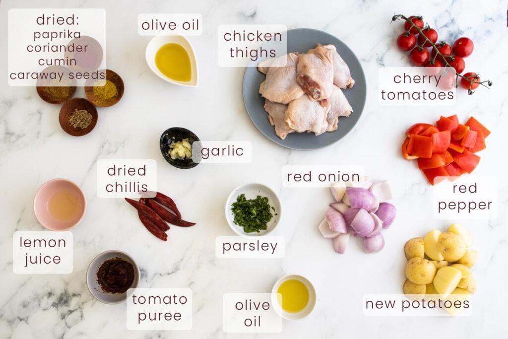 Harissa chicken ingredients