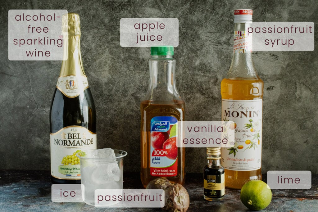 Pornstar Martini Mocktail Ingredients