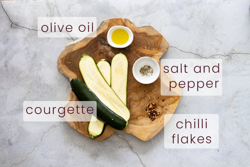 Roasted courgette Ingredients