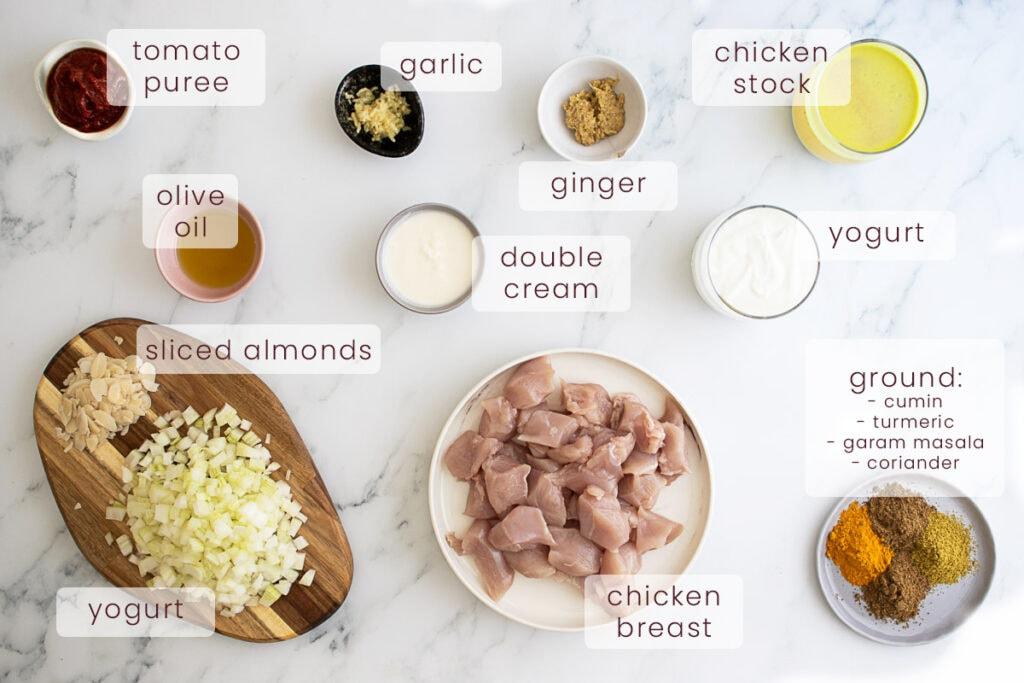 Slow cooker chicken korma ingredients