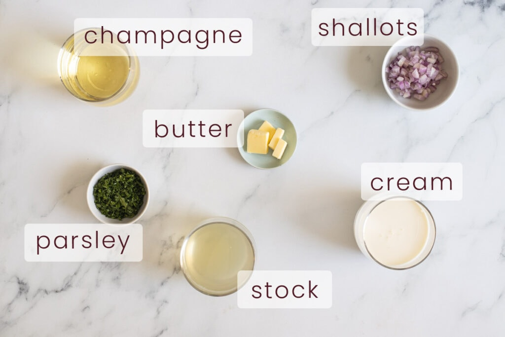 Champagne Sauce Ingredients