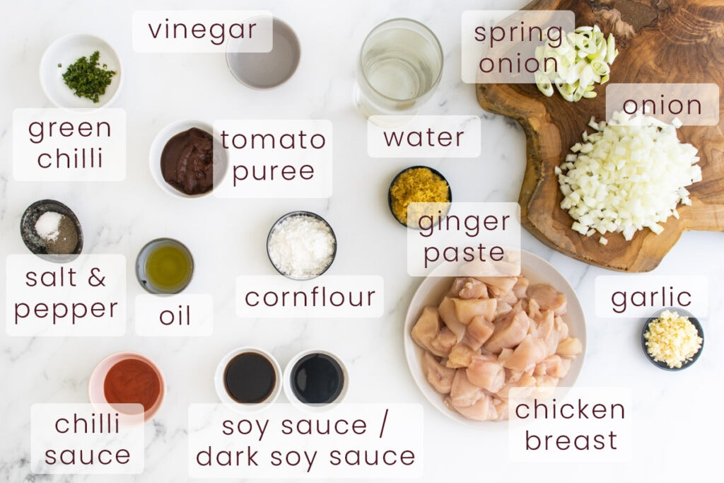 Chicken Manchurian ingredients