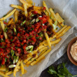 Dirty fries with mayo and ketchup